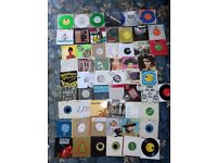 """Punk/new wave/indie 7"""" record collection. Vinyl. Not LPs or turntables."""