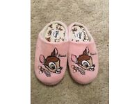 Pink Disney slippers size 3-4