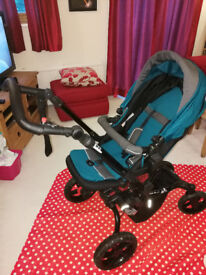 Jane Crosswalk Stroller with Matrix 2 Car Seat and Isofix Base
