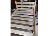 As New Heavy Duty Pine Single Bed Frame