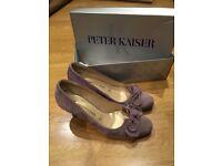 Peter Kaiser suade shoes