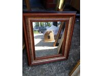 Mirror - small wooden frame vintage pattern