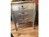 Silver shabby chic unit