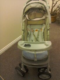 Graco buggy. Leightweight and comfy. Useful drinks holders - for child and adult!