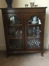 Glass or display cabinet/book case