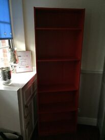 Ikea Billy Bookcase Red