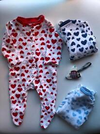 Baby girl clothes, First size, new baby 42 items