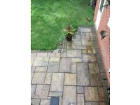 Indian Flagstone Paving/patio- various sizes - covers 28ft x 11 ft