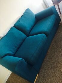 DFS Amulet 3 seater Teal coloured Sofa