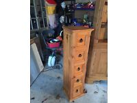 Mexican pine five draw cabinet