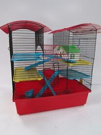 Large 4 level hamster cage multi coloured RRP 38.99
