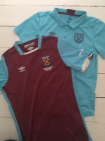 2x west ham shirts age 11/12