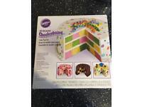 Wilton checkerboard cake tin set