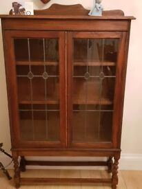Lovely wooden glass display cabinet