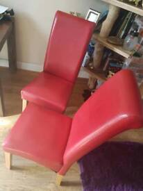 Pair of leather look chairs excellent quality not cheap type £50