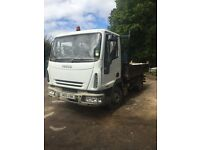 Iveco 75e17 eurocargo tipper spares or repairs