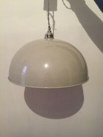 Metal grey pendant light from John Lewis