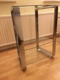 Glass Hi fi/ small tv stand