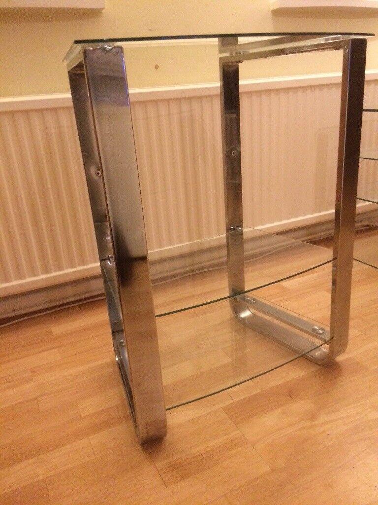 Glass Hi fi/ small tv stand