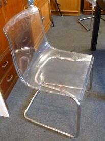 Transparent plastic chair x2 - CHARITY