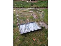 Metal dog crate - free!