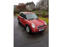 LOW LOW MILES Mini One,63400mls,full service history.New mot.superb inside/out.GleamingRed/half,Lthr