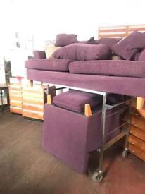 Purple Sofa & Arm Chair