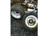 2 trailer wheels