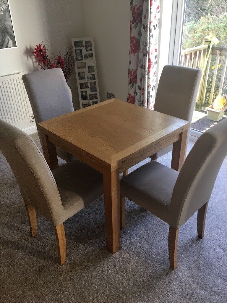 Awesome Small Oak Extendable Dining Table And Four Chairs In Plymouth Devon Gumtree Creativecarmelina Interior Chair Design Creativecarmelinacom