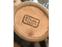 Denby Coffee Pot Sugar Bowl and Milk Jug