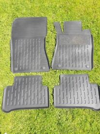 Genuine Mercedes E Class (W211) all weather rubber mats