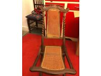 Victorian folding cane chair