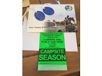 Babmington horse trials, camping and passes
