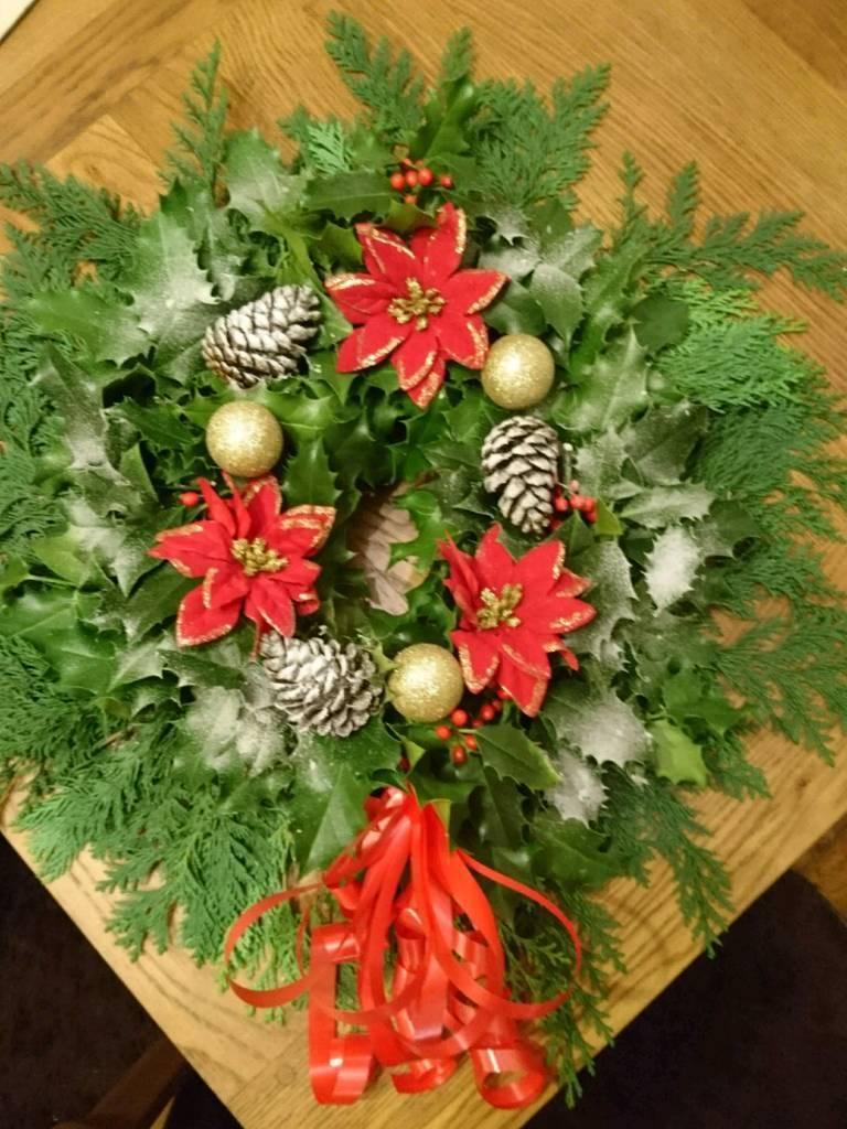 Christmas decorative wreath /graveside tribute