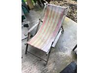 X2 old fashioned deck chairs