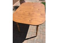 Wooden dining table (oak effect)