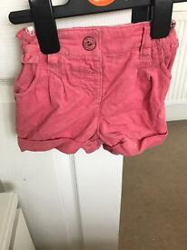 Girls next shorts new with tags 6-9 months