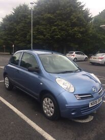 2006 blue Nissan Micra 1.2 just under 60,000 miles