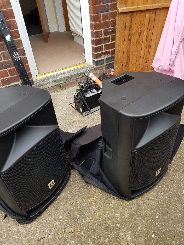 "Pair of hill audio active 15"" speakers"