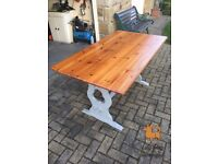 Shabby Chic Restored Wooden Dining Table