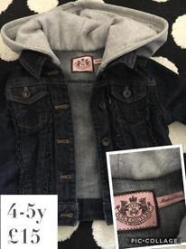 Girls genuine Juicy Couture denim jacket 4-5y