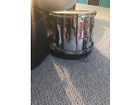 Premier Marching Snare drum with leg rest/support and case