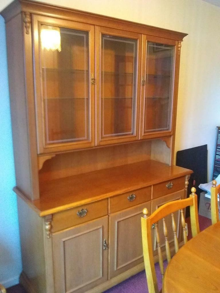 Dining Room Furniture Wall Unit Display Cabinet And Extendable Dining Table And Four Chairs In Tetbury Gloucestershire Gumtree
