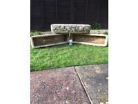 Get Ready for Spring - Vintage Stone/Concrete Cotswold Garden Trough Planters x 3