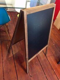 CHALKBOARD - BLACKBOARD - ADVERTISING BOARD Black Wooden