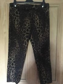 Biba leopard print trousers