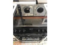 Beko black 60cm full electric cooker