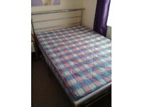 Double Bed frame and mattress hardly used