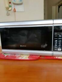 Microwave Russel Hobbs Silver & in very good condition .Large inside plate