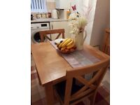 Solid oak dresser&matching table and 2chairs